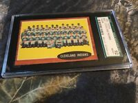 1962 TOPPS # 537 CLEVELAND INDIANS TEAM,  SGC  92 NMMT + , HIGH # CARD