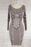 New Free People Intimate Seamless Printed Bodycon Long Sleeve Party Dress Xs/S
