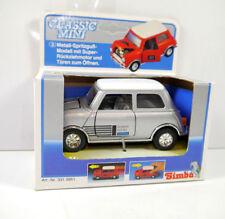 CLASSIC MINI Cooper SUNNY HOTEL Modellauto mit Rückziehfunktion SIMBA silber K52