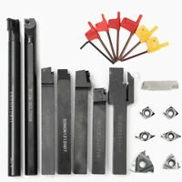 7PCS Set 12mm Indexable Turning Tool With Carbide Inserts Tool Bit Lathe Set
