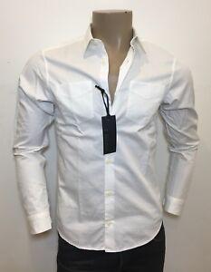 Ermenegildo Z ZEGNA White 100% Cotton Tapered Fitted Pocket Shirt S RRP: £185.00