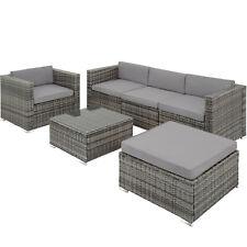 Conjunto De Jardín de Ratán Mesa De Sofá De Muebles del patio asientos al aire libre salón de mimbre gris