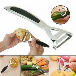 Heavy Duty Chrome Alloy Kitchen Potato Peeler Fruit Vegetable Rapid Slicer UK