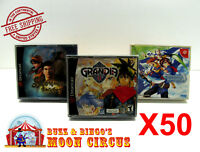 50x SEGA DREAMCAST CIB DOUBLE CD GAME CASE CLEAR PROTECTIVE BOX PROTECTOR SLEEVE