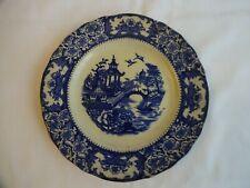 Antique Olde Alton Ware Plate Blue/White Pagoda Design Diameter 18 cm
