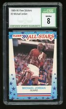 1989-90 Fleer Michael Jordan #3 1989 All Star Sticker Bulls CSG 8 NM Mint