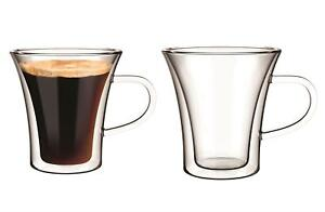 Florence Double Wall Insulated Glasses, Set of 2 Espresso Cups 75ml