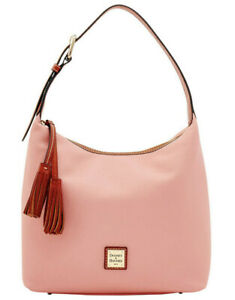 NWT Dooney & Bourke Pebbled Pale Pink Leather Paige Sac