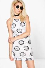 BOOHOO Brand Sun & Moon Bodycon Halter Dress Size 14 BNWT #TM55