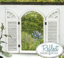 Garden Window Mirrors Shutters Vintage Glass Outdoor Wooden Frame Window Door