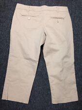 The Limited Drew Fit Size 6 Capri Tan Pants