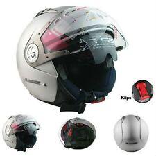 LS2 Helmet -OF545 White - Dual Visor - Half/Open Face Imported Motorcyle Helmet