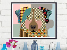 Australian Shepherd Dog Pet Portrait Animal Lover Gift Wall Decoration Painting