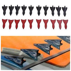 10Pcs Black EVO-style Shark Spoiler Wing Kits For Car SUV Roof Bumper Windshield