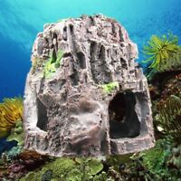 Aquarium Mountain View Coral Reef Rock Cave Stone Moss Fish Tank Ornament Decor