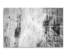 120x80cm abstrakt 1220 schwarz weiß stilvoll Leinwand auf Keilrahmen Sinus Art