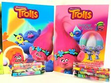 Party Favors Trolls Coloring Book & Crayon Set 12 Pack ( Assorted Style)