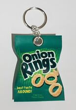 Handmade Novelty Packet Of Onion Rings  Keyring/Bag Charm