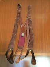 Trafalgar Brown Suede Leather Suspenders
