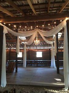 "Wedding decoration  Ivory or White panels 57"" wide x length you need, no pocket"