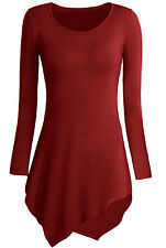 RSVH WDT Womens Ladies Plus Size Tops Long Sleeve Round Neck Tunic Diamond Style
