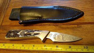 Schrade Heritage USA 156 Lil Finger Caper Stag (Bone) Hunting Knife w/ Sheath