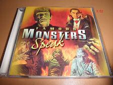 UNIVERSAL MONSTERS cd DRACULA speaks FRANKENSTEIN (no music) halloween