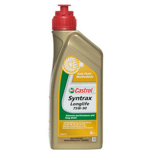 Castrol 1 Litre Syntrax Longlife 75W90 Fully Synthetic Diff / Axle Oil / Fluid