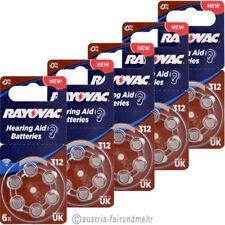 """""""30x Rayovac ACOUSTIC SPECIAL Hörgeräte-Batterie ZA312 V312 braun"""