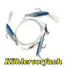 Köhler Pilk rig avec 3 Grosse mouche 130 cm Hg: 3/0 bleu/argent