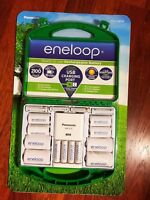 Panasonic Eneloop Rechargeable Batteries Kit w/ Charger 6 AA & 4 AAA - Brand New