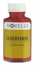 (12,48�'�/100ml) Lederfarbe Morello Einziehhaftfarbe zum färben ROT 40 ml
