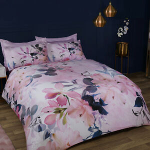 Sleepdown Large Floral Bedding Duvet Cover Set & Pillowcases Single Double King