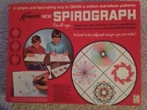 Vintage Kenner SPIROGRAPH 401 Art Set Toy 1967 Original Box