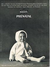 PUBLICITE ADVERTISING 035  1964  PRENATAL & RHOVYL   layette bébé