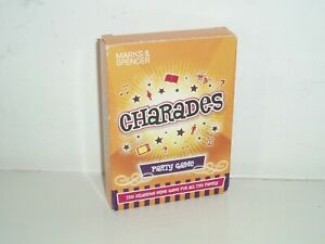 Charades card game by M&S.