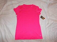NEW WITH TAGS DANSKIN NOW SHORT SOEEVE SEMI FITTED PINK TEE SIZE SMALL 4-6