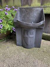 ANTIQUE Vintage CITY OF LONDON LEAD RAIN WATER HOPPER box garden planter pot