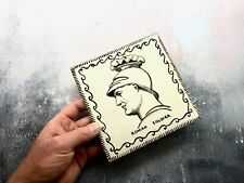 Antique Hand Painted Signed Bath Studio Pottery Ceramic Tile - Roman Soldier