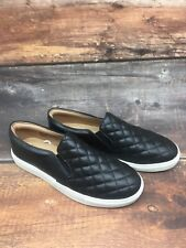 Women's Reese Quilted Sneakers A New Day Black Slip-on Comfy Casual Shoes Sz 9
