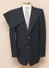 Vintage Mens 42L Botany 500 2 Piece Blue Pinstripe Suit