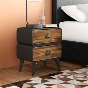 Williston Forge Krish Rounded 2 Drawer Nightstand WLFR4455