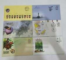 Malaysia 2013 Blank FDC with First Day Cancellation 6pcs