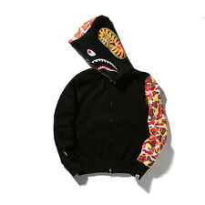 BAPE A Bathing Ape Hoodie Sweats Men's Shark Head Full Zip Coat Jacket Clothing