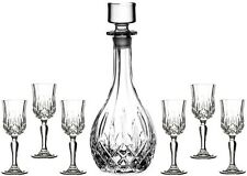 RCR OPERA CRYSTAL GLASS - 7 PIECE SHERRY SET (DECANTER + 6 GLASSES) - NEW/BOXED