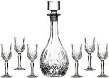 RCR OPERA verre Cristal - 7 piece Sherry set (carafe + 6 verres) - nouveau / boxed