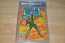 ARMY AT WAR #1, 2nd Highest Graded!! CGC NM+ 9.6, Kubert-c/Ayers-a OW/W Pages!