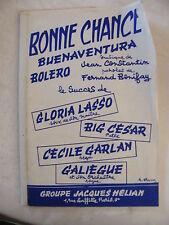 Partition Bonne Chance Gloria Lasso Big Cesar Cécile Garlan Galiègue