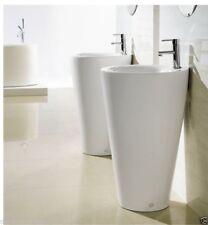 "Bathroom Pedestal Sink - Single Pedestal Sink  Modern Sink - Ferrara - 19.5"""