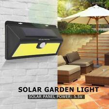 160W 200 LED Solar Cool White Motion Sensor Lights Garden Yard Wall Lamp IP65
